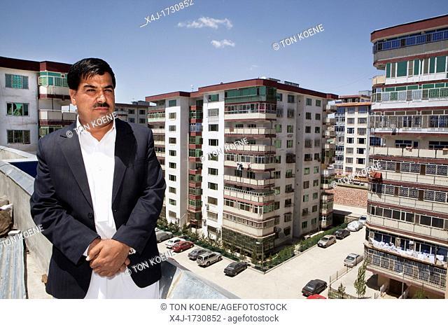 apartment buildings in Kabul, Afghanistan