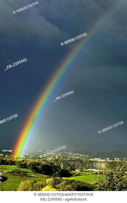 rainbow in the Basque Country