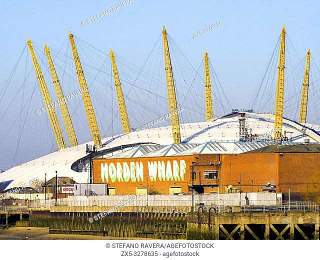 The O2 Arena in Greenwich - London, England