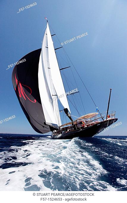 Marie at the Superyacht Cup In Palma de Mallorca, Spain