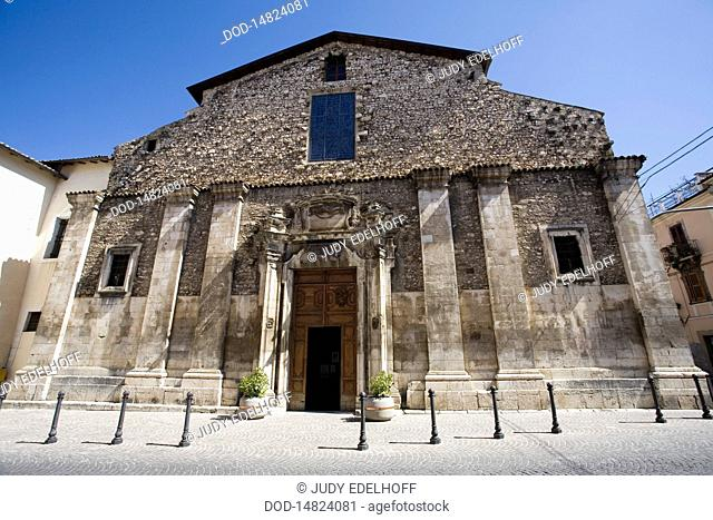 Italy, Sulmona, church facade