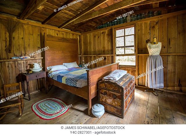 Interior of Pioneer Cabin at Crowley Museum & Nature Center in Sarasota Florida