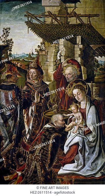 The Adoration of the Magi, c. 1490-1499. Artist: Osona (Orsona), Rodrigo de (active 1465-1514)