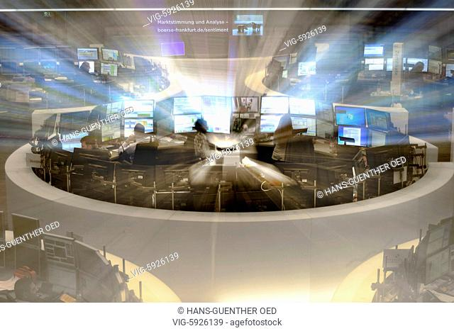 16.11.2017, GER, Frankfurt, the DAX curve on the trading floor of the Frankfurt Stock Exchange - Frankfurt, Hesse, Germany, 16/11/2017