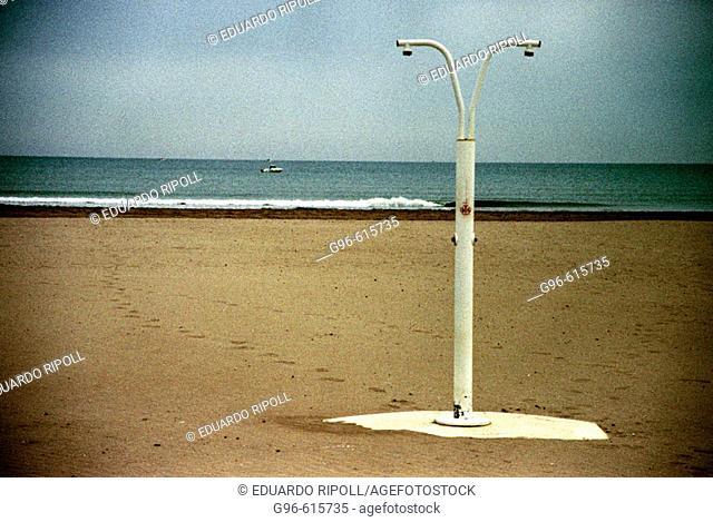 Shower in beach
