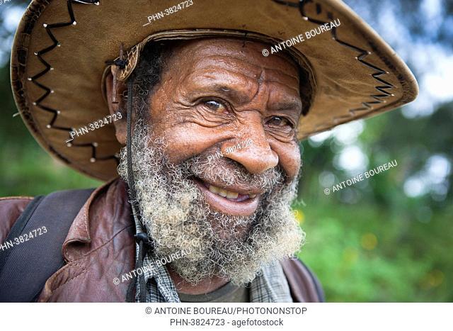 Man in the market of Tari, Papua New Guinea