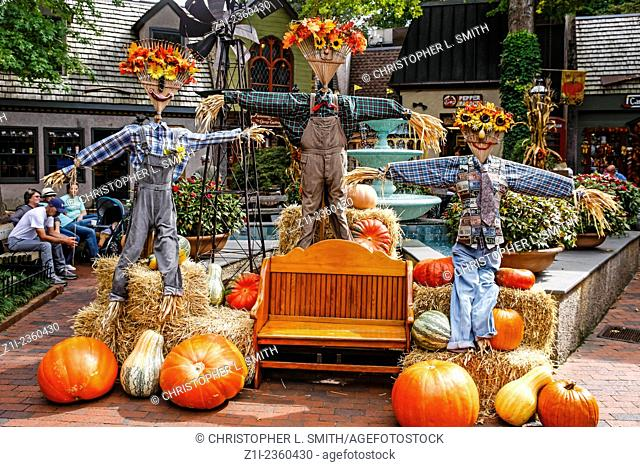 October sees Halloween, Scarecrows, Pumpkins and the Fall in Gatlinburg Tennessee