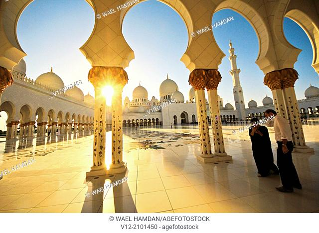 Sheikh Zayed Mosque, Abu Dhabi, . United Arab Emirate