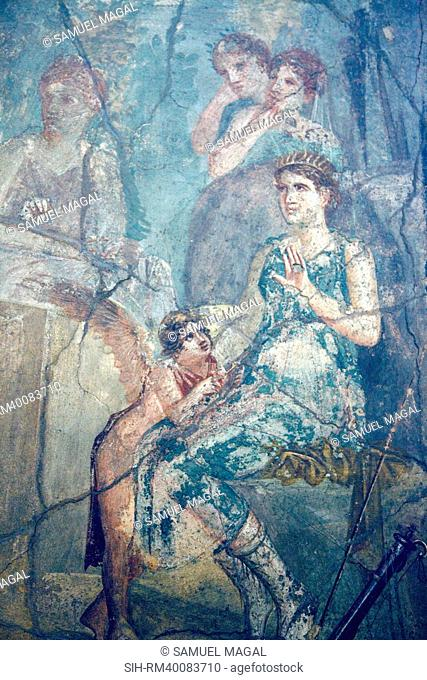 Italy, Naples, Naples Museum, Pompeii, House of L. Cornelius VII 12, 26, Artemide and Calisto