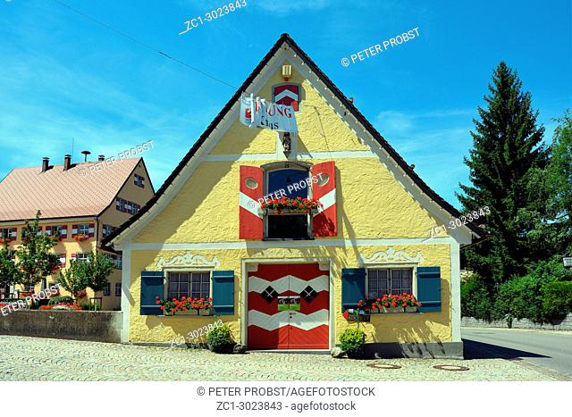 Kornhaus of Weiler im Allgaeu from the 18th century used as a local history museum of the community - Germany