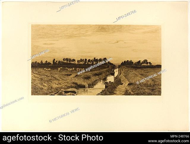 Summer Afternoon - 1895 - Hans am Ende German, 1864-1918 - Artist: Hans Ende, Origin: Germany, Date: 1894–1895, Medium: Etching and aquatint with brown ink on...