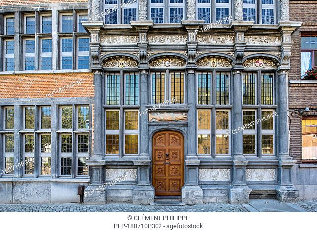 In Den Grooten Zalm / The Salmon, house of the Fishermans' Guild at the Zoutwerf in the city Mechelen / Malines, Antwerp, Flanders, Belgium
