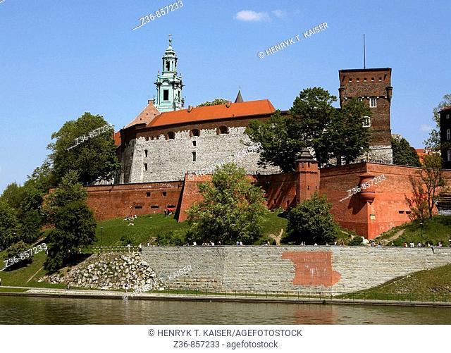 Poland, Krakow, Wawel Hill, Vistula river