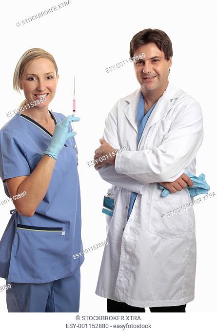 Surgeon and scrub nurse