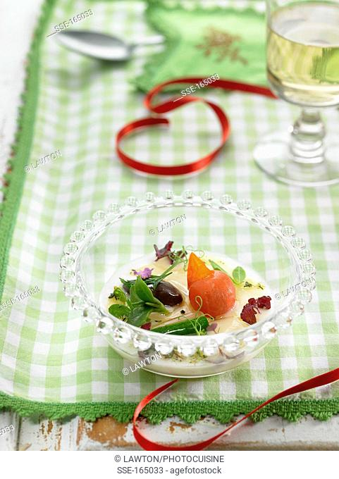 Christmas vegetarian rice with vegetables