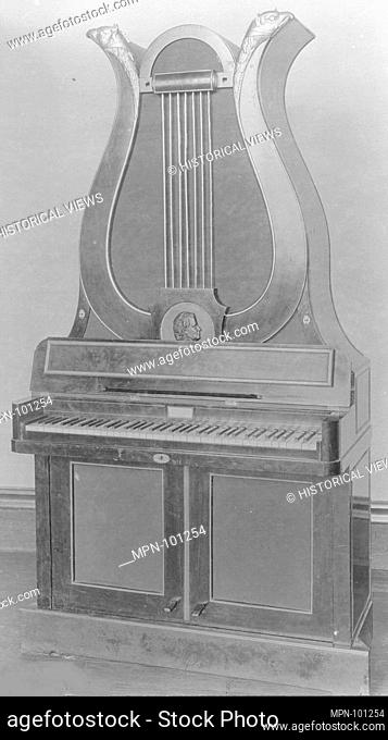 Upright (Lyre) Piano with Pedalboard. Maker: Johann Christian Schleip (1786-1848); Date: 1820-44; Geography: Germany; Culture: German; Medium: Wood