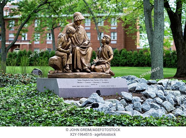 Memorial sculpture, Elizabeth Seton National Shrine, Emmitsburg, Maryland