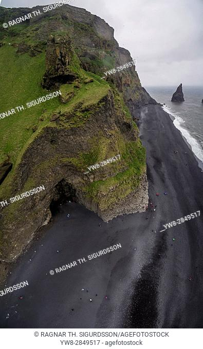 Black sand beach at Dyrholaey, Reynisfjara, South Coast, Iceland