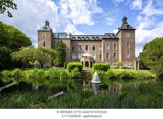 Willich, Neersen, D-Willich, Niers, Lower Rhine, North Rhine-Westphalia, NRW, D-Willich-Neersen, manor house Neersen, moated castle, Middle Ages, baroque