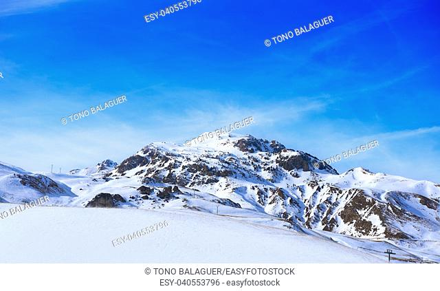 Formigal ski area in Huesca Pyrenees of Spain