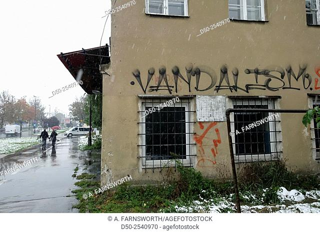 'Vandalism' graffitti, Krakow, Poland