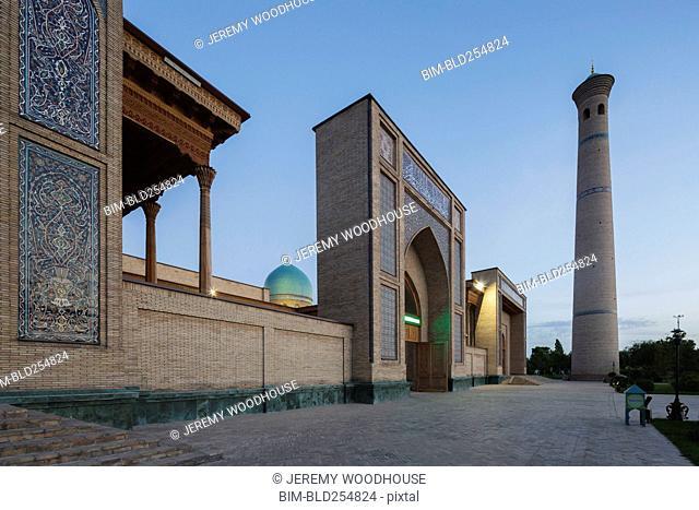 Traditional building and tower, Tashkent, Toshkent Shahri, Uzbekistan