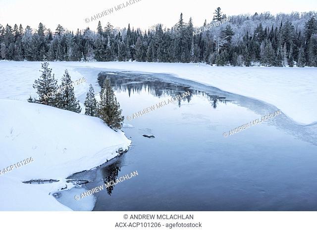Smoke Creek in in winter in Algonquin Provincial Park, Ontario, Canada