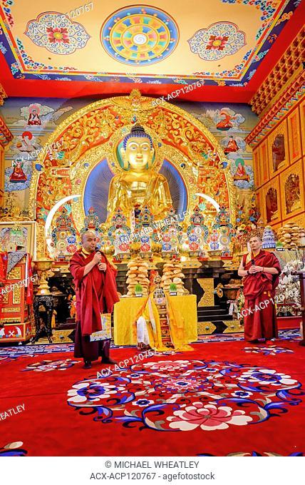 Tibetan New Year, Buddhist Festival, Losar, celebration at Thrangu Monastery, Richmond, Greater Vancouver, British Columbia, Canada