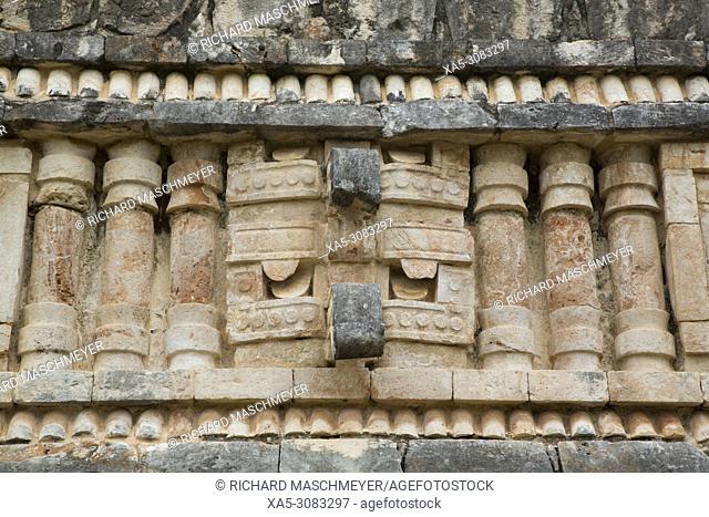 Chac Rain God Mask, Palace, Labna Archaeological Site, Mayan Ruins, Puuc Style, Yucatan, Mexico