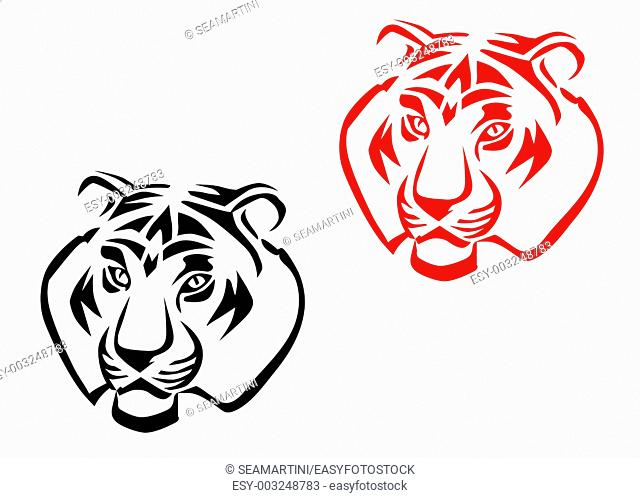 Tribal Tiger Tattoo Design Stock Photos And Images Age Fotostock