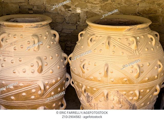 Giant antique amphoras from the Knossos palace - Crete, Greece