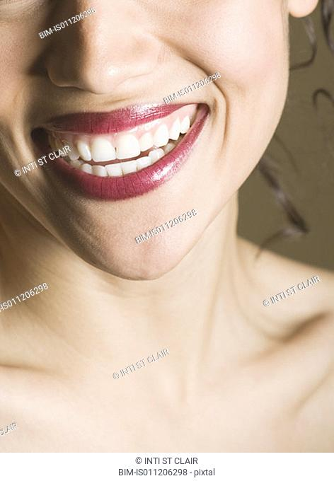 Close-up of a young woman's smile