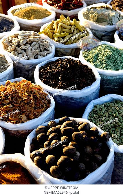 Spices in a market Goa India