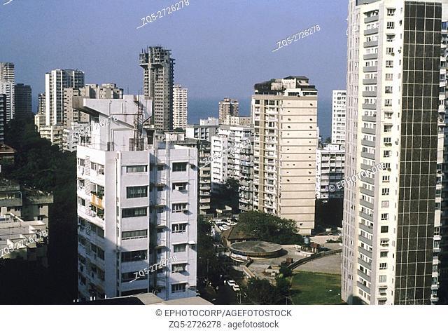 Large skyscrapers on Malabar hill, Mumbai, India