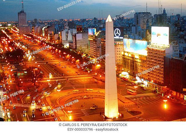 Avenida 9 de Julio. Buenos Aires. Argentina