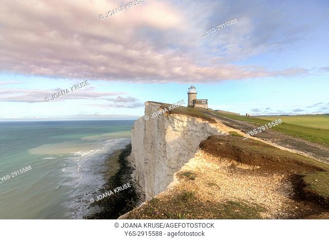 Belle Tout Lighthouse, Seven Sisters, South Downs, East Sussex, England, UK