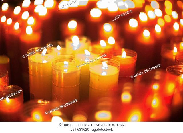 Candles. Sant Joan de Peñagolosa. Castellon province. Spain