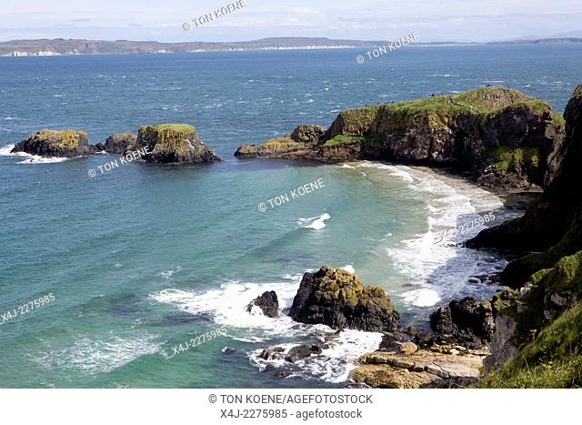 carrick-a-rede is a site of a rope bridge, once used for salmon fishers tending their nets. Now a famous tourist attraction