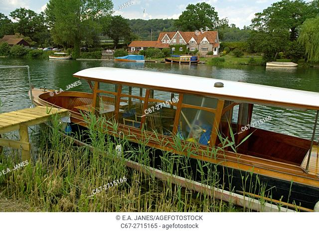Boating on the Thames Regatta Week Near Henley Oxfordshire UK July