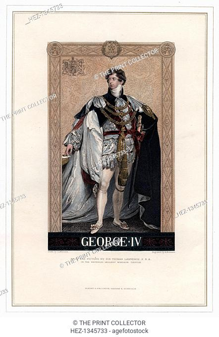 George IV, King of Great Britain and Ireland. George IV (1762-1830) succeeded his father George III as king in 1820, having previously ruled as Prince Regent...