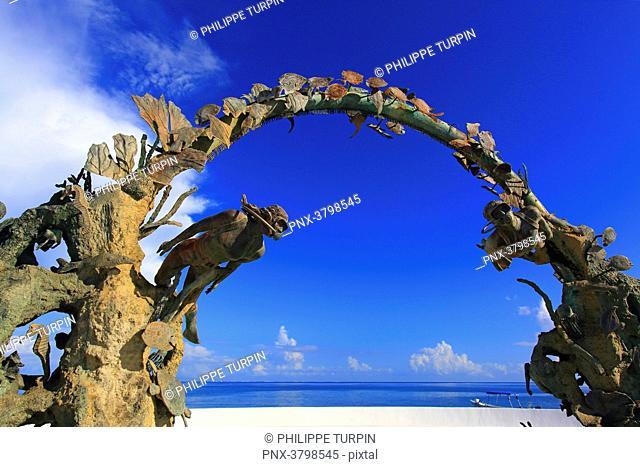 Mexico, Quintana Roo, Cozumel Island. San Miguel de Cozumel. Scuba Arch