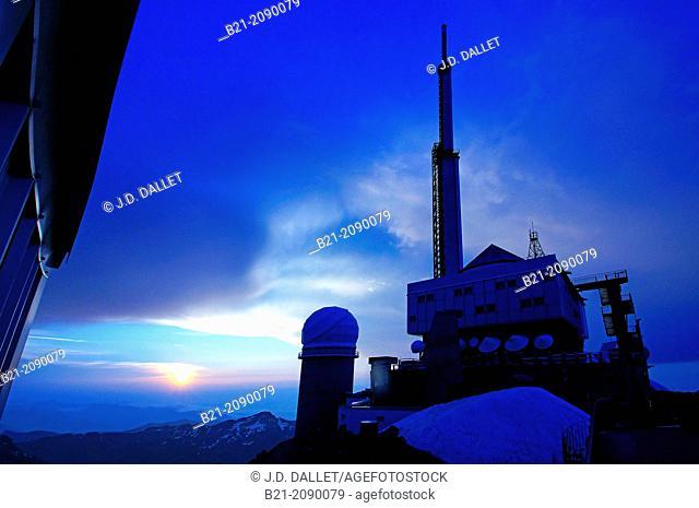 France. Midi Pyrénnées. Hautes-Pyrénées. Pic du Midi de Bigorre. Pic du Midi Observatory