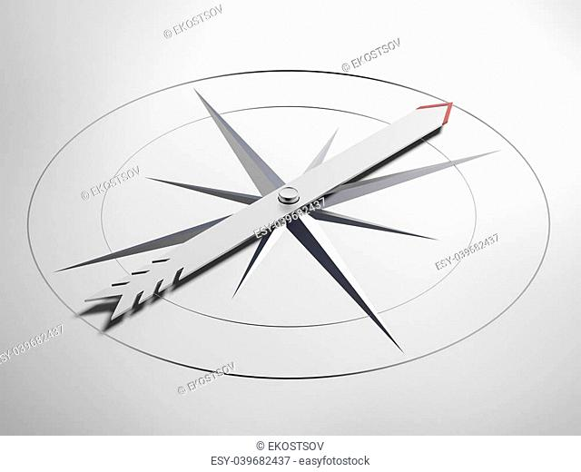 Navigation concept isolated on a white background