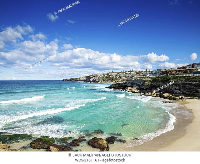 tamarama beach view near bondi on sydney australia coast