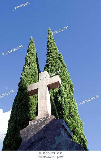 France, Saint-Pons de Thomieres, cemetery, 2014