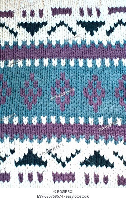 Jersey cotton knitted sweater pattern