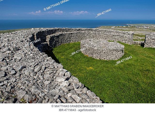 Dún Eochla, Iron Age Historic Fort, Eochaill, Inishmore, Aran Islands, County Galway, Republic of Ireland