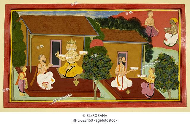 Composing the Ramayana, Valmiki is shown composing and completing the epic Ramayana. The story spreads to other ascetics