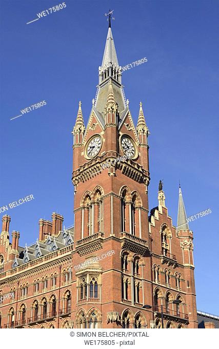 St Pancras Station, Clock Tower, London, United Kingdom