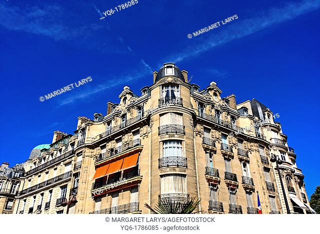 Old, historic architecture in Paris France, Europe